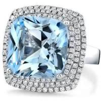 Buy cheap Customizable 14K Handmade topaz ring cocktail rings with topaz gemstone purity for Gift from wholesalers