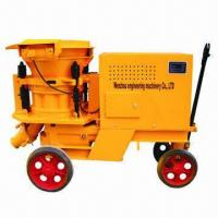 Buy cheap Concrete Spraying Machine, Freely Adjusted, Wet and Moist Spray, 7.5kW Motor Power from wholesalers