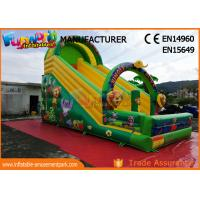 Wholesale Printed Inflatable Jungle Slide / Commercial Inflatable Bounce House from china suppliers