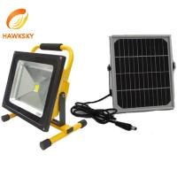 Buy cheap Portable 30W LED Rechargeable Floodlight with Solar Panels Supplier from wholesalers