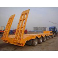 Buy cheap 2/3/4Axles Low Flatbed Trailer With Jost Landing Gear And Fuwa Axle, 40t-100t Payload Capacity from wholesalers