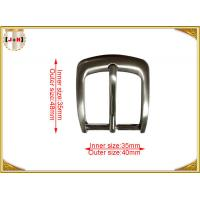 Buy cheap Metal Die Cast Belt Buckles 35mm Silver Plated Customized from wholesalers