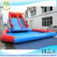 Hansel red and blue kids amusement park equipment inflatable climbing structure water pool sidel Manufactures