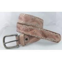 Buy cheap fashion real leather rivets jean belt manufactory price in hihg quality from wholesalers
