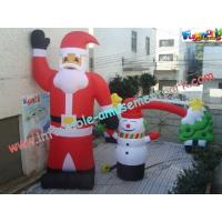 Wholesale UV-Treated PVC , Coated Nylon Inflatable Christmas Decorations Santa Claus For Outdoor from china suppliers