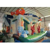 Buy cheap Beautiful Colourful Commercial Inflatable Water Slides Undersea World Theme 0.55mm Pvc Tarpaulin from wholesalers