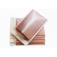 Buy cheap Rose Gold Metallic Bubble Envelopes , 6 X 9 Metallic Foil Bubble Mailers Self Seal from wholesalers