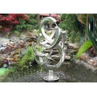 Contemporary Stainless Steel Water Features Abstract Sandblasting Finishing