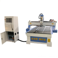 China 3 axis 1325 atc cnc wood router 8''x4'' auto tool changer woodworking cutting Slotting machine on sale