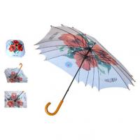 Buy cheap Crook handle auto open straight umbrella from wholesalers
