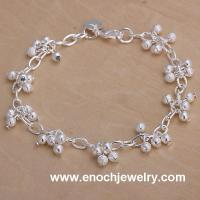 Buy cheap Christmas style frosted resin beads bell bracelet from wholesalers
