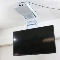 Buy cheap LCD TV Ceiling Lift Hanger Electric Genuine Turner Rotating Mount Hanger Hidden Ceiling Lift Hidding Lifting for 32-70 i from wholesalers