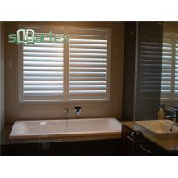 China British Design Pvc Indoor Sliding Window Shutters / Interior Plantation Shutters on sale