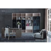Buy cheap Cheap Apartment room Fashion Home office Furniture Study Computer Reading table and Glass door bookcase with wood Shelve from wholesalers