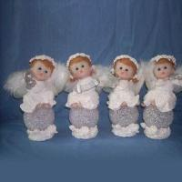Buy cheap Angels Design Christmas Craft with Hand Painted, Made of Polyresin and Porcelain from wholesalers