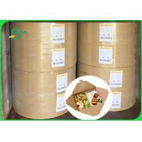 Buy cheap 30gsm 40gsm FSC food grade one side coated white kraft paper in ream from wholesalers