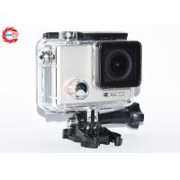 Adjustable Angle Waterproof Action Camera With Gyroscope , OEM 4K Action Camcorder