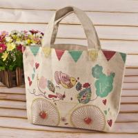 Buy cheap Popular Cotton Shoulder Bag Customized Logo Reusable Shopping Bags from wholesalers