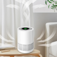 Buy cheap White ABS TVOC Sensor Baby Air Purifier Bedroom Living room Oiifce Small Szie product