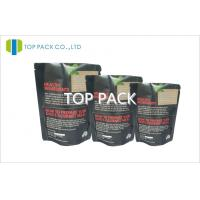 Black Matte Spice Packaging Bags Aluminum Foil Gravure Printing Manufactures