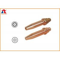 Copper Acetylene Propane Gas Cutting Nozzle With Cutting Thickness Reach To 300mm Manufactures
