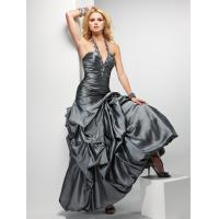 Buy cheap Vintage Halter Womens Party Dresses v Neckline And Taffeta Sexy from wholesalers