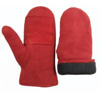 Buy cheap Sheepskin Leather Mitten Gloves , Winter Waterproof Leather Ski Gloves from wholesalers