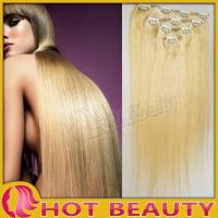 Buy cheap Stock Mixed Color Clip in Hair Extensions 20 Inch Straight For Female from wholesalers