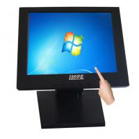 Buy cheap Black 12 Inch Touch Screen LCD Monitor Resolution 1024 x 768 For POS Machine from wholesalers