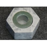 Buy cheap Hexagon Shape Stone Candle Holders , Marble T Light Candle Holders 6x7.2x3.5cm from wholesalers
