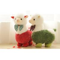 White silky soft fur Girl Alpaca Prime Plush custom stuffed toys for Birthday present Manufactures