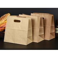Buy cheap Recycle Perforatedbrown Kraft Paper Bags , Takeaway Paper Bags With Printing Logo from wholesalers
