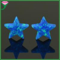 Buy cheap OP05 blue 10mm man-made opal five-pointed star shape opal stone price for jewelry making from wholesalers