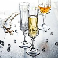 Buy cheap Celebration Champagne Wedding Wine Glasses / Transparent Glass Cup With Lid from wholesalers