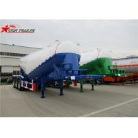 Buy cheap Green Three Axles Bulk Cement Semi Trailer Banana Type Technical Details from wholesalers
