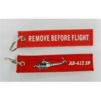 Remove Before Flight AB-412 SP Embroidery Keychain Jets Manufactures