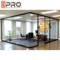 Buy cheap Aluminum Glass Office Partitions Frosted Glass Partitions Sound Proof from wholesalers