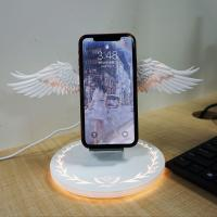Buy cheap Latest 10w Fast Charging Wireless Charger Angel Wings Mobile Phone Wireless Charger from wholesalers