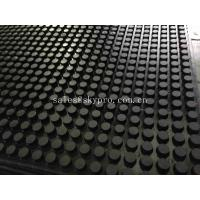 Buy cheap Front And Grooved Back Cow Rubber Mats , Non Slip Rubber Matting With 3-5MPa from wholesalers
