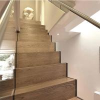 Wholesale Modern villa stair design  Glass railing stainless balustrades zig zag straight staircase from china suppliers