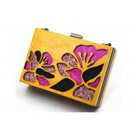 Buy cheap Gold Color Wooden Evening Clutch Bags / Handbag For Women With Flower from wholesalers