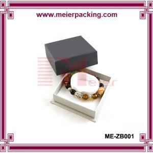 Fancy custom made grey paper gold blister-varnishing bracelet packaging box with holder