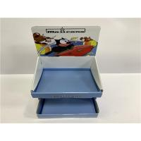 Buy cheap Corrugated Paper Countertop Display Cabinet , Blue And White Cardboard Display Rack from wholesalers