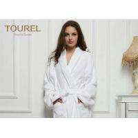 Buy cheap Cotton White Cotton Terry Cloth Bathrobe Waffle Hotel Bathrobes White Blue Pink Color from wholesalers