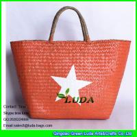Buy cheap LUDA wholesale summer straw tote bag lady seagrass straw hand bags from wholesalers