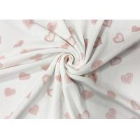 Buy cheap 260GSM Polyester Velvet Fabric / Home Textile 92 Polyester 8 Spandex Pink Heart from wholesalers
