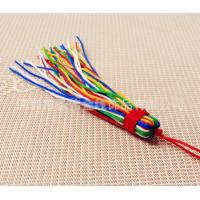 Buy cheap Multicolored beautiful shiny silk tassels trimming fringe for home textiles decoration from wholesalers