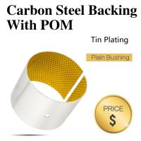 Buy cheap POM Self Lubricating Sleeve Bearings / Split Boundary Plain Journal Bearing Without Lead from wholesalers