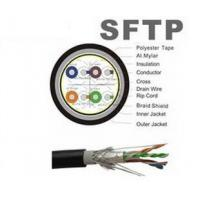 Buy cheap Black Computer 4P 1000 Cat5e SFTP Cable Outside Ethernet Cable product