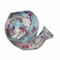 Buy cheap Rayon Scarf, Customized Specifications are Accepted, Measuring 67 x 178 +10 x 2cm product